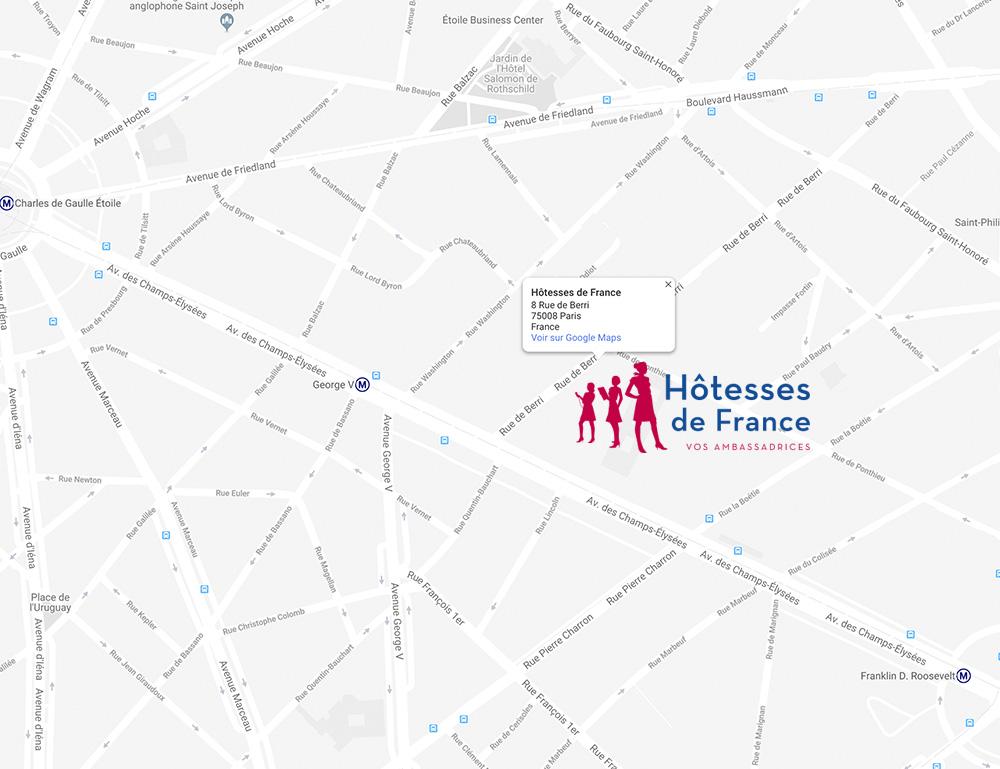 contact Hôtesses de France - map